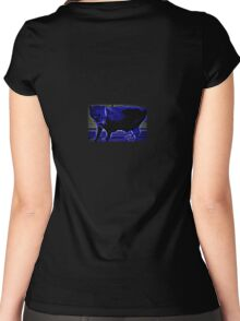 Carolina Blue Cat Women's Fitted Scoop T-Shirt