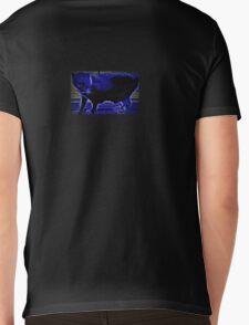 Carolina Blue Cat Mens V-Neck T-Shirt