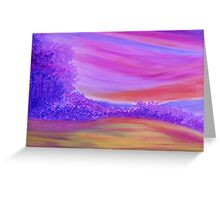 Purple Forest. Greeting Card