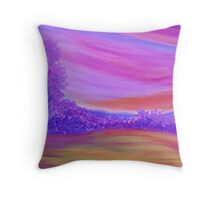 Purple Forest. Throw Pillow