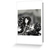 Dark Rain Greeting Card