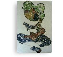 Woman with blue hair Canvas Print