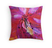 Exotic flower on silk Throw Pillow
