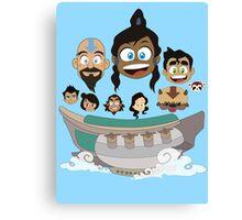Legend of Korra Airship Journey Canvas Print