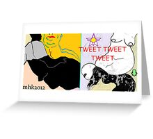 dialogue with a disillusioned delusional dog 2 Greeting Card