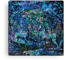 "Alchemical Secrets - ""The Stag And The Unicorn"" Canvas Print"