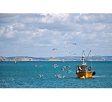 Slippery Dick ~ Lyme Regis Photographic Print