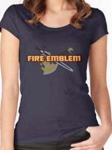 BLAZING SWORD | Fire Emblem Titles Women's Fitted Scoop T-Shirt