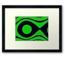 Oceana Green ~ Ultra Fractal,Photoshop.. Framed Print