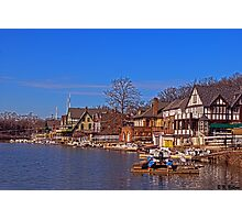 Sunny Winter Day on Boathouse Row Photographic Print