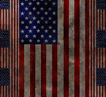 Grungy American Flag Case by Jenifer Jenkins