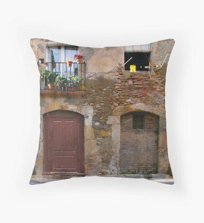 Spanish Doors and Windows Throw Pillow