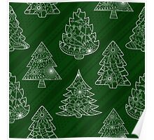Pattern with trees Poster