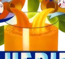 Bluebird Orange Juice Vintage Advertisement Sticker