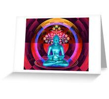 Blue Buddha Greeting Card