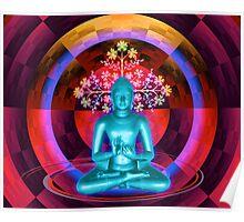 Blue Buddha Poster