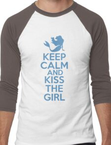 Keep Calm and Kiss The Girl Men's Baseball ¾ T-Shirt