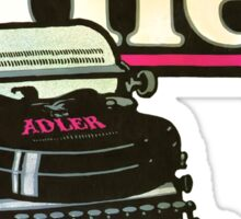 Adler Typewriter Vintage Advertisement Sticker