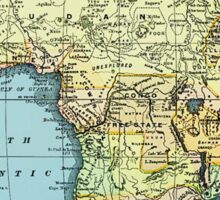 Africa 1890 Vintage Map Sticker