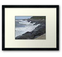 Rough Seas - Scarborough Framed Print
