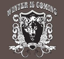 "Game of Thrones ""Winter is Coming"" DireWolves by BUB THE ZOMBIE"