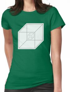 BEWARE HYPNO-CUBE! Womens Fitted T-Shirt