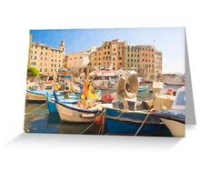Camogli Oil 3 Greeting Card