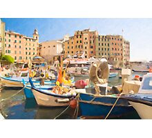Camogli Oil 3 Photographic Print