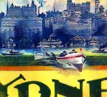 Sydney Australia Vintage Travel Advertisement Sticker