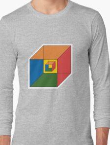 BEWARE HYPNO-CUBE color version Long Sleeve T-Shirt