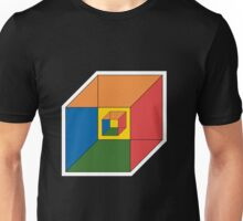 BEWARE HYPNO-CUBE color version Unisex T-Shirt