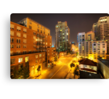 San Diego City Lights Canvas Print