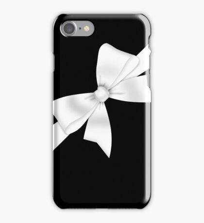 Elegant White Bow iPhone Case/Skin