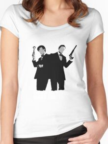 The Coolest Heroes Wear Bow Ties Women's Fitted Scoop T-Shirt