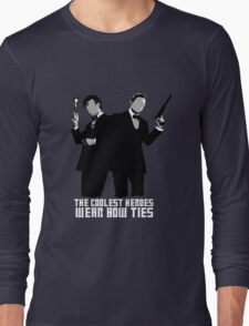 The Coolest Heroes Wear Bow Ties Long Sleeve T-Shirt