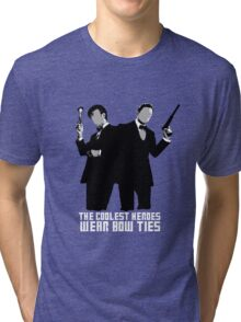 The Coolest Heroes Wear Bow Ties Tri-blend T-Shirt