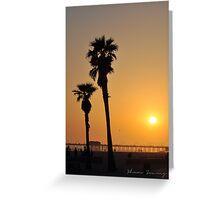 California Beach Sunset Greeting Card