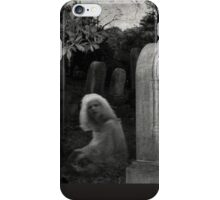 Ghostly Girl By Her Grave, Sleepy Hollow Cemetery iPhone Case/Skin