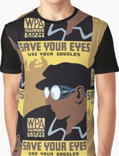 Save Your Eyes Use Your Goggles Vintage Advertisement Graphic T-Shirt