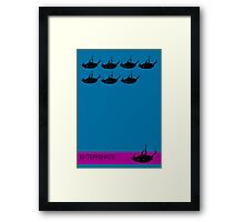 Exterminate poster blue Framed Print