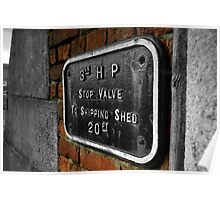 shipping shed - red brick Poster