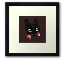How To Train Your Dragon Toothless Eating Salmon Framed Print
