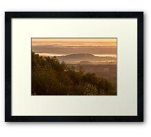 First light in the Severn Valley, Malvern Hills Framed Print