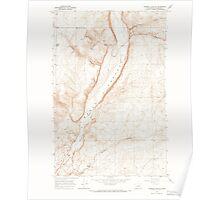 USGS Topo Map Washington State WA Jameson Lake SW 241689 1965 24000 Poster