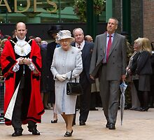 The Mayor of Bromley escorting The Queen by Keith Larby