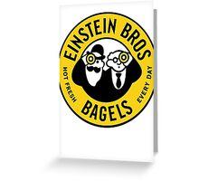 Every Day Einstein Bagel Greeting Card