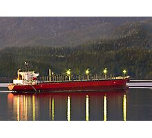 Freighter at Sunset Photographic Print