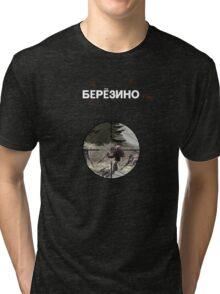 DayZ: Berezino - White ink Tri-blend T-Shirt
