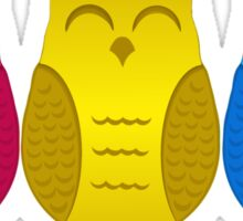 Happy Pansexual Pride Owls Sticker