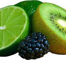 Lime Kiwi Fruit Blackberry by ukedward